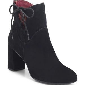 ONO Jutra Booties Side Lace Black Suede